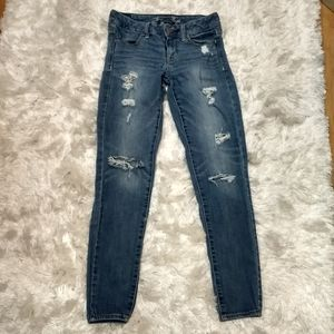 American eagle distressed stretch jegging sz 2
